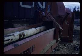 Woods Division - Chipper / Harvester - Loading chips into a railcar