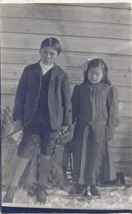 Young First Nations boy and girl