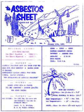 The Asbestos Sheet Jan. 1962