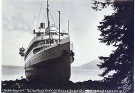 """Prince Rupert"" ""On the Rock Dock"" [near] Prince Rupert, B.C. Wrecked 23 Marc..."