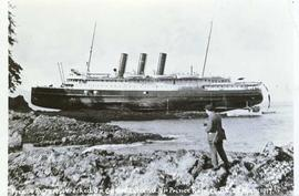 """Prince Rupert"" Wrecked. on Genn Island. [Near] Prince rupert, B.C. 23 Mar: 1917"