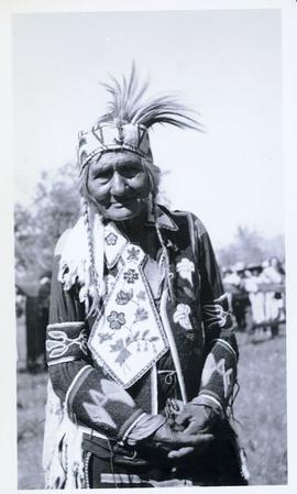 First Nations elder in full regalia