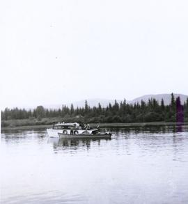 Two boats on Lake Babine