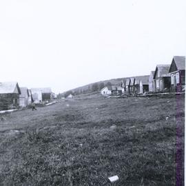 Housing and field at Fort Babine