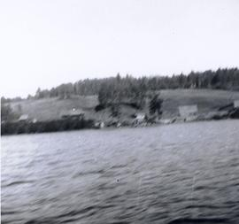 Fort Babine from water - blurry image