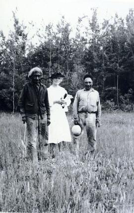 Lake at St. Mary's Reserve 1940 Little Isadore, myself, Andrew Michel