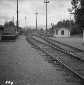 B.C. Electric Railway depot at Huntingdon and Sumas