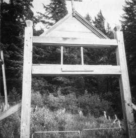 Entrance gate to a First Nations graveyard