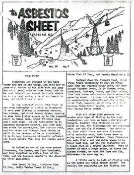 The Asbestos Sheet Jan. 1966