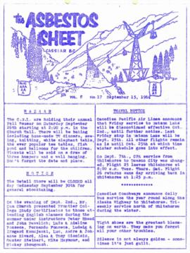 The Asbestos Sheet Sept. 1964