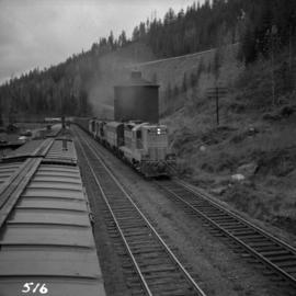 C.P.R. eastbound freight train at Illecillewaet