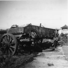 Derelict horse drawn drop wagon