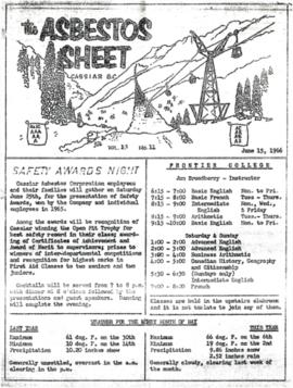 The Asbestos Sheet June 1966