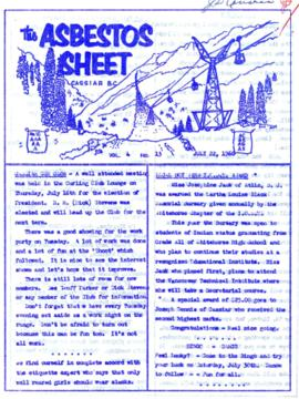 The Asbestos Sheet July 1960