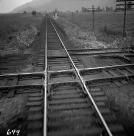C.N. tracks crossed by C.P. tracks