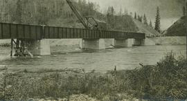 Railway bridge across the Bulkley River