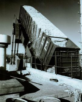 Northwood Pulp & Timber - Chip dump and chip piles