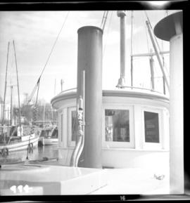 Stack, whistle, and wheelhouse of the S.S. Flora Bell