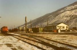 Northward view of the CN yards in Kamloops