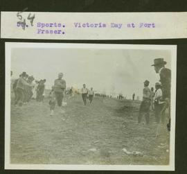 Men running a foot race