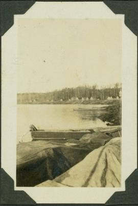 Cabins and canoes on MacLeod Lake