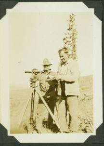 Jack Adams & Al Phipps reading measurements at a river station