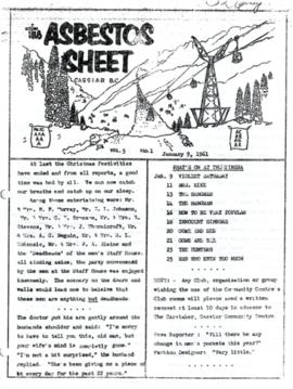 The Asbestos Sheet Jan. 1961