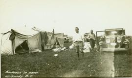 Bedeaux in camp at Gundy, B.C