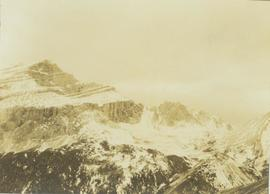 Snowy mountain landscape in the Canadian Rockies where Prentiss Gray found his prized mountain goat