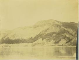The north shore along the Peace River