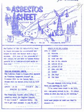 The Asbestos Sheet Nov. 1960