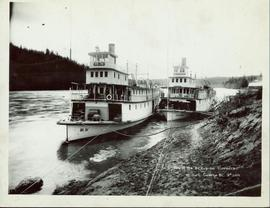 Two of the BC Express steamers at Fort George, BC, No. 200