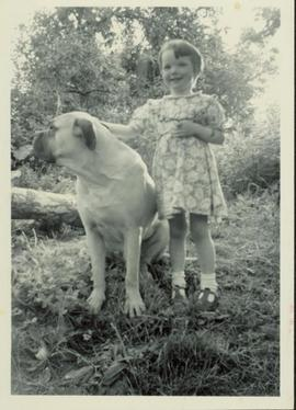 Family photographs from England: Marchelle & Jackie (dog)