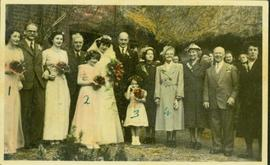Family photographs from England: Wedding party