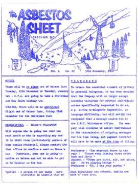 The Asbestos Sheet Nov. 1962