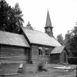 St. Anne's log church on Vancouver Island