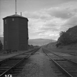 Water tower at Savona Depot