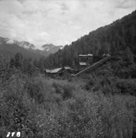 Mineral ore mines near ghost town of Sandon, BC