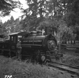 Locomotive #25 at the Cowichan Valley Forest Museum