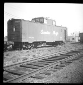 Caboose on CPR line in Cranbrook