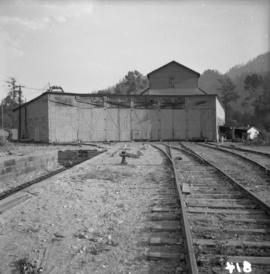 Pacific Great Eastern locomotive roundhouse at Brackendale yards