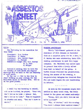 The Asbestos Sheet Oct. 1961