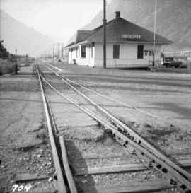 Great Northern Railway depot at Keremeos