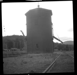 Water tower on CPR rail line at Brookmere