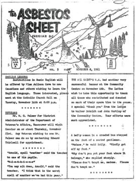 The Asbestos Sheet Nov. 1961