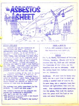 The Asbestos Sheet July 1959