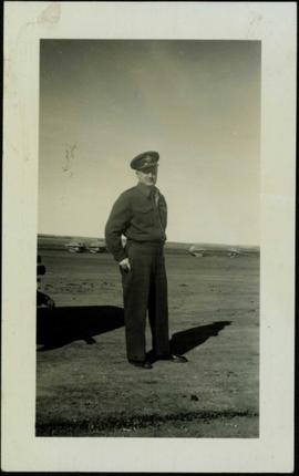 Flight Officer P.B. Cox in Grande Prairie