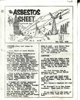The Asbestos Sheet 8 July 1958
