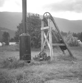 Mine shaft hauling donkey engine in Slocan City
