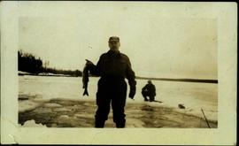 Ice Fishing on Watson Lake